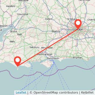 Weymouth London train map