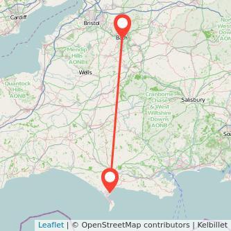 Weymouth Bath bus map