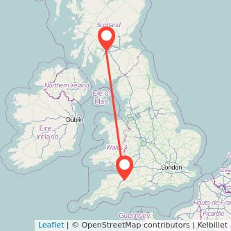 Taunton Glasgow train map