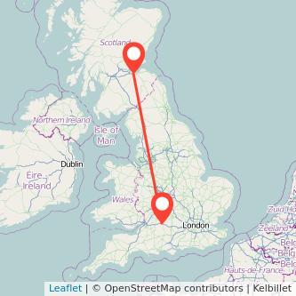 Swindon Edinburgh train map