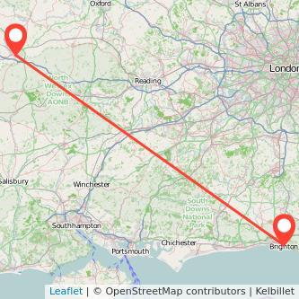 Swindon Brighton bus map