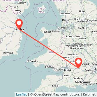 Swindon Dublin flight map