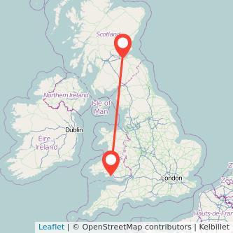 Swansea Edinburgh bus map