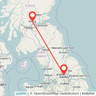 Stirling Leeds train map