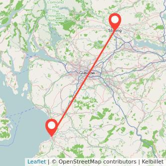 Stirling Ayr train map