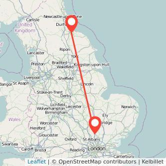 Stevenage Middlesbrough train map