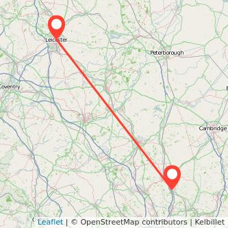 Stevenage Leicester train map