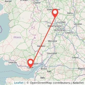 Stafford Cardiff train map