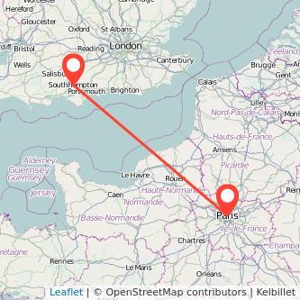 Southampton Paris train map
