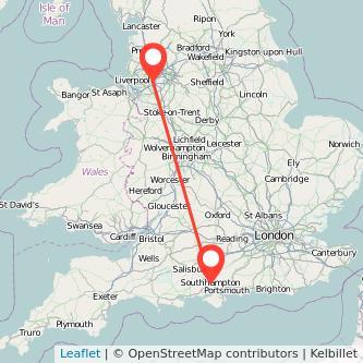 Southampton Warrington train map