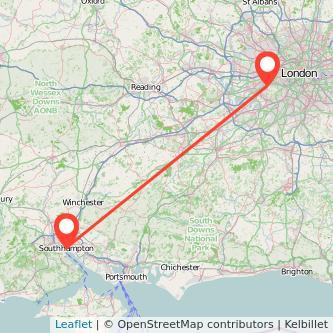 Southampton Richmond train map