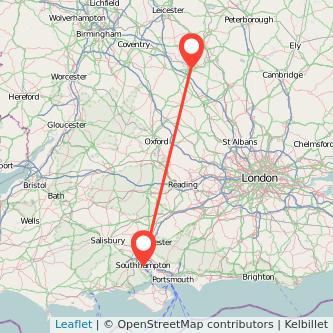 Southampton Northampton bus map