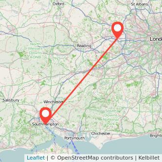 Slough Southampton train map