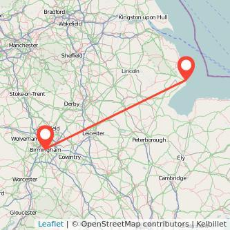 Skegness Birmingham train map