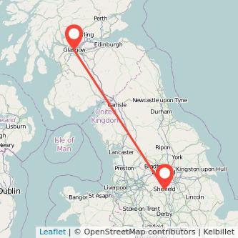 Sheffield Glasgow bus map