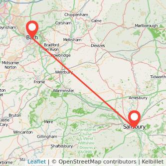 Salisbury Bath bus map