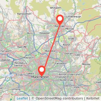 Rochdale Manchester train map