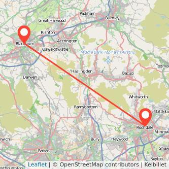 Rochdale Blackburn train map