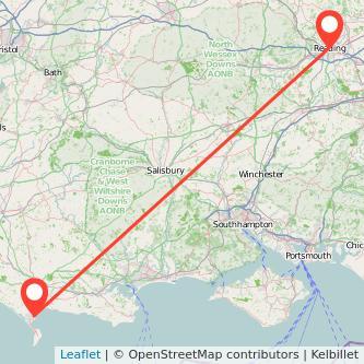 Reading Weymouth train map