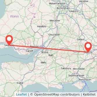 Reading Swansea bus map