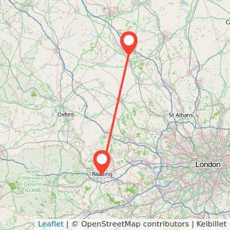 Reading Milton Keynes train map