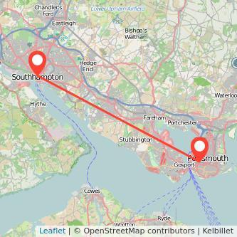 Portsmouth Southampton train map