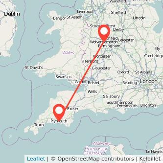 Plymouth Wolverhampton train map