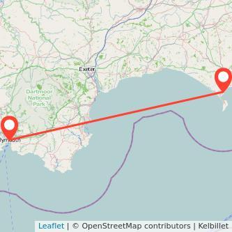 Plymouth Weymouth train map