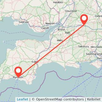 Plymouth Swindon train map