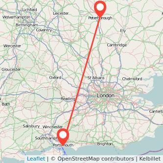 Peterborough Portsmouth train map