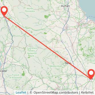 Penrith York train map