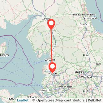 Penrith Preston train map