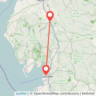 Penrith Lancaster train map