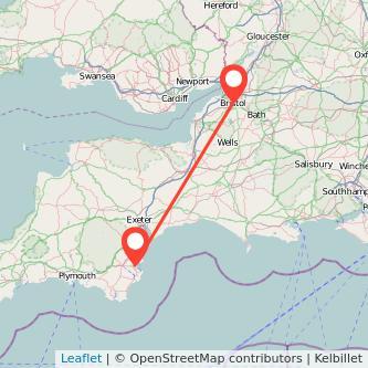 Paignton Bristol train map