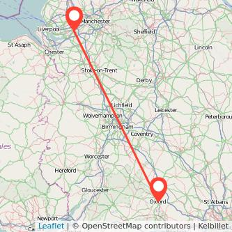Oxford Warrington train map