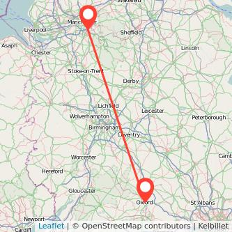 Oxford Stockport train map