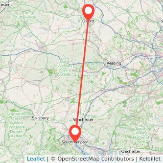 Oxford Southampton bus map