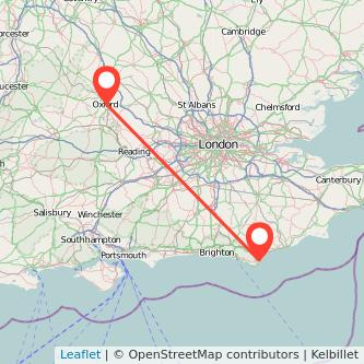 Oxford Eastbourne train map