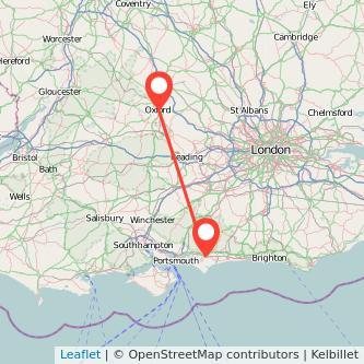 Oxford Chichester train map