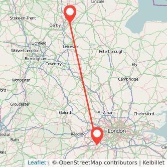 Nottingham Woking train map