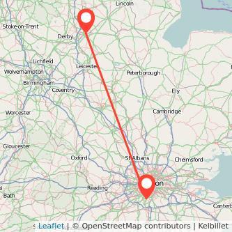 Nottingham Sutton train map