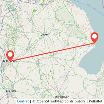 Nottingham Skegness bus map