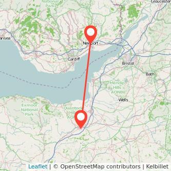 Newport Taunton train map