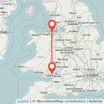 Newport Liverpool train map