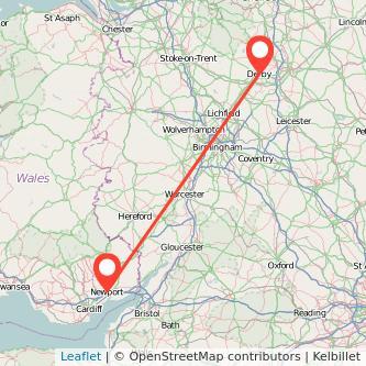 Newport Derby train map