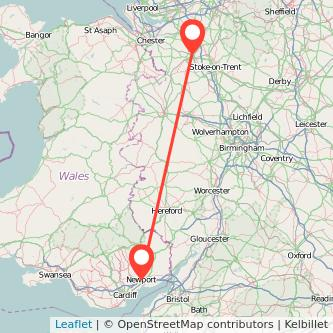 Newport Crewe train map
