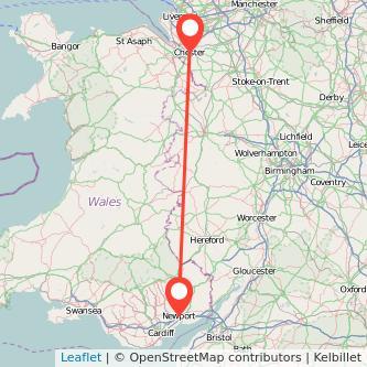 Newport Chester train map