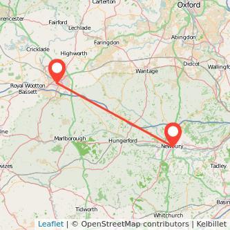 Newbury Swindon bus map