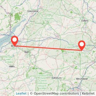 Newbury Bristol train map