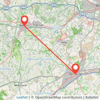 Newbury Basingstoke bus map